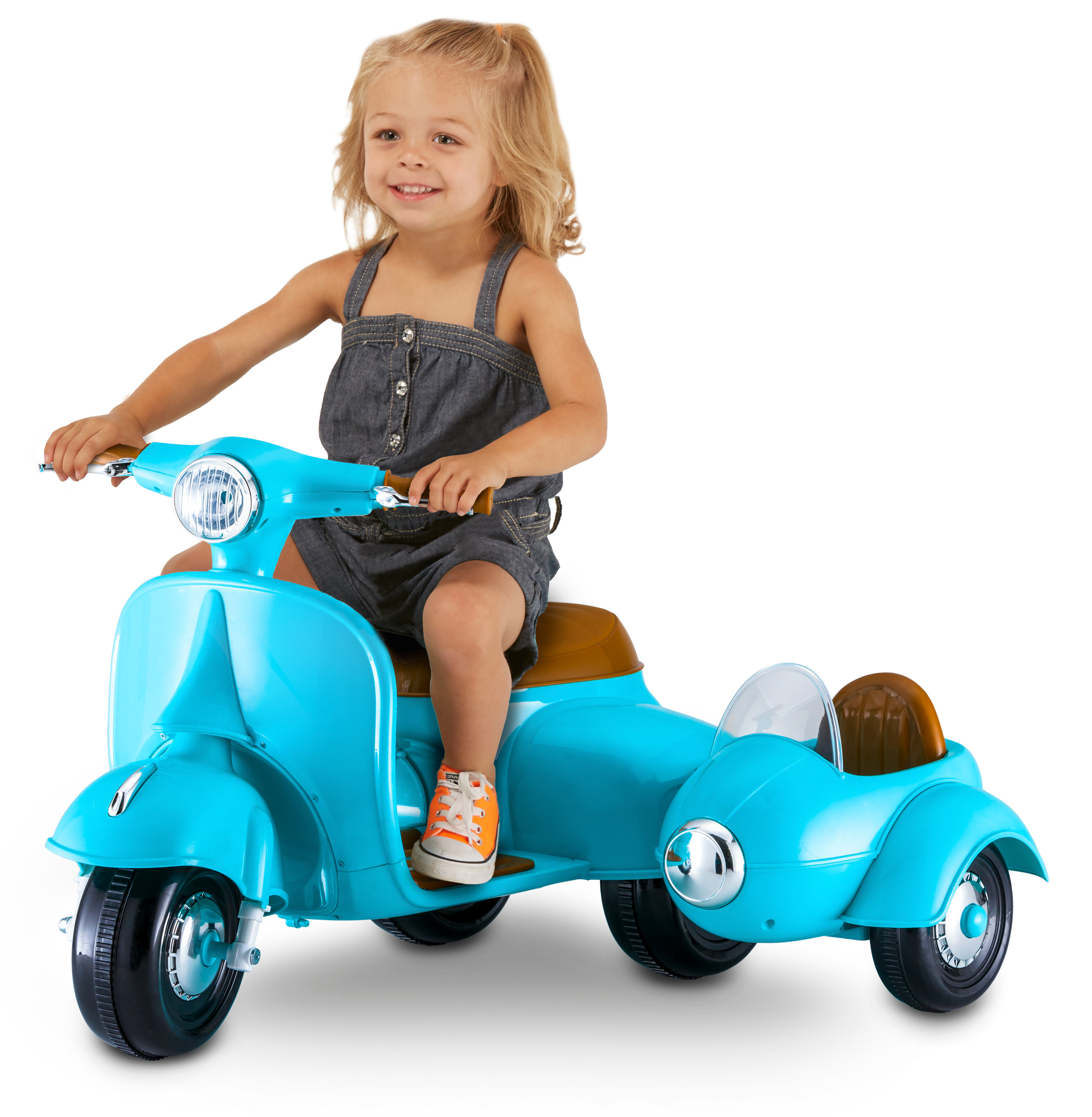 6-Volt Scooter with Sidecar by Kid Trax, Blue