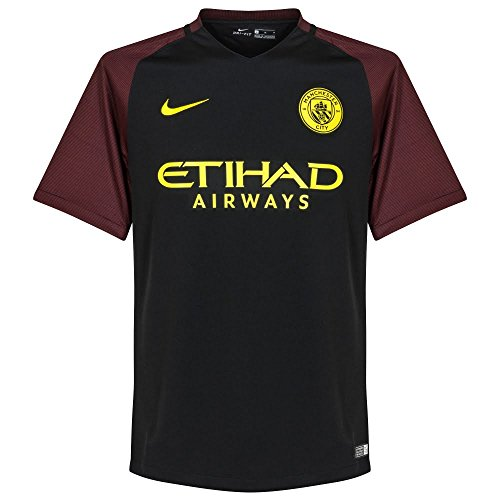 Nike Men's Manchester City Away Stadium Soccer Jersey 2016/2017 (Small) Black