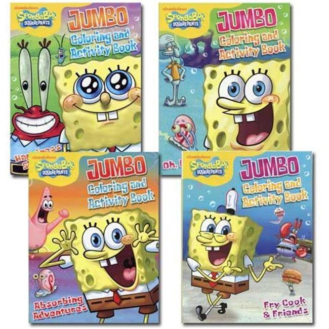 Spongebob Jumbo Coloring And Activity Book - SpongeBob SquarePants Coloring  Book - Walmart.com - Walmart.com