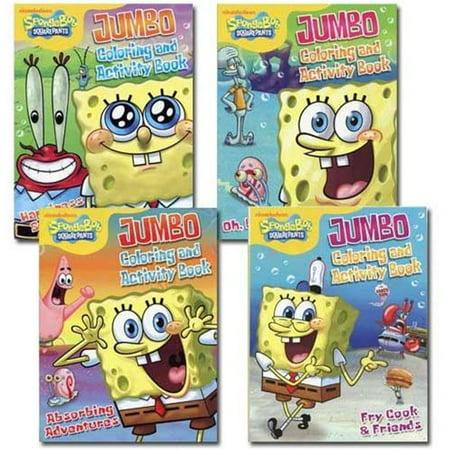 Spongebob Jumbo Coloring and Activity Book - SpongeBob SquarePants Coloring  Book