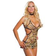 Camouflage Halter Dress Matching Pantie Set