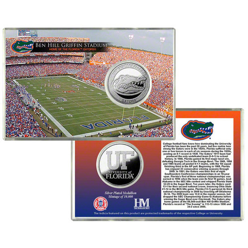 Florida Gators Silver Coin Card - Stadium