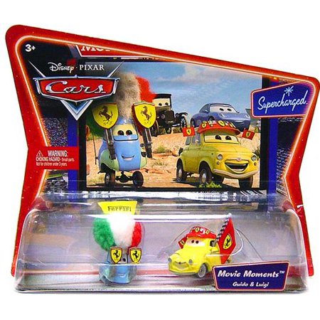 Luigi & Guido in Ferrari Gear Diecast Car 2-Pack Disney Cars for $<!---->