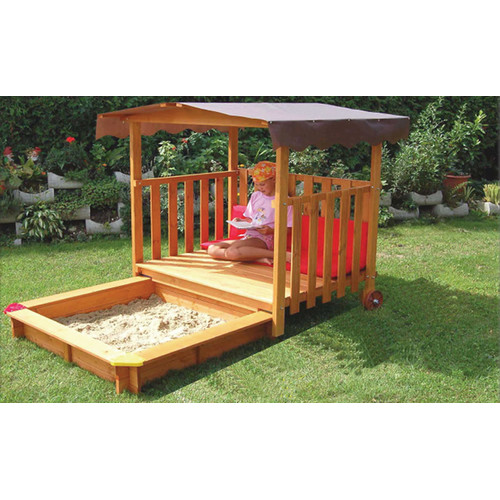 Exaco Playhouse Rectangular Sandbox with Cover