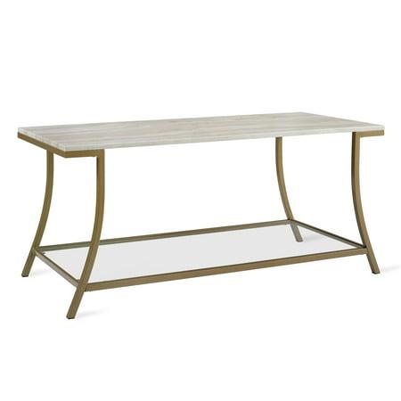 Faux Marble (Novogratz Cecilia Coffee Table, Soft Brass, Faux Marble)