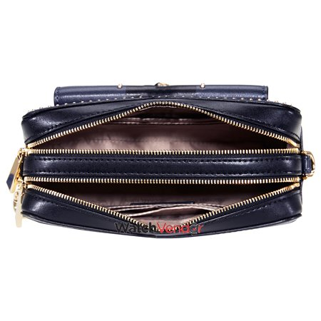 00a0ef27ee4540 Michael Kors Studded Leather Crossbody - Navy / Black - image 1 of 4 ...