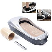 OUKANING Shoe Covers Machine,Automatic Shoe Cover Dispenser Disposable Plastic Shoes Boots Cover For Indoors, Medical, Shop And Office Us Stock (Silver)