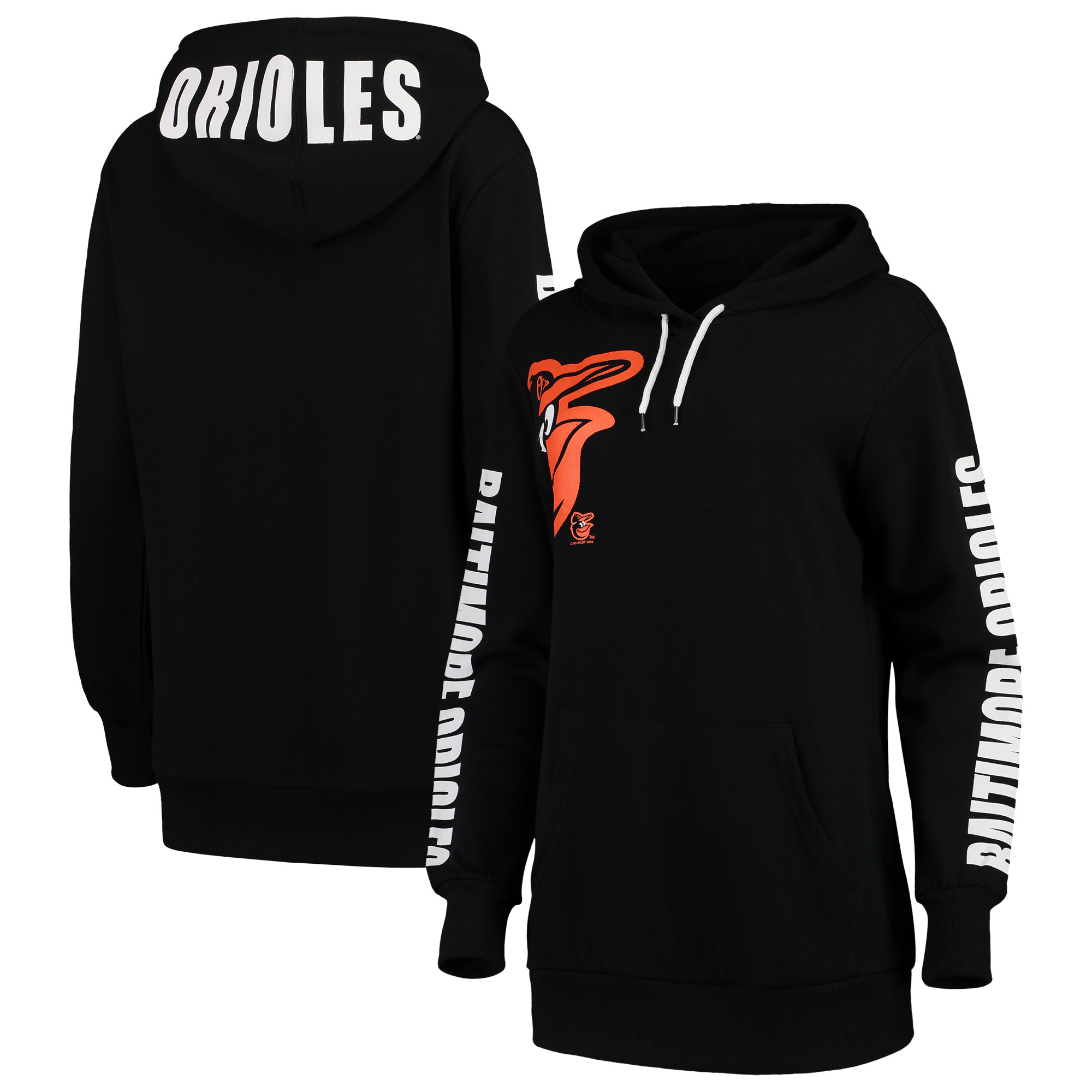 Baltimore Orioles G-III 4Her by Carl Banks Women's 12th Inning Pullover Hoodie - Black
