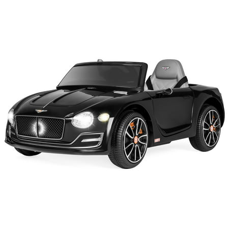 Best Choice Products 12V Kids Licensed Bentley EXP 12 Ride-On Car w/ Remote Control, Foot Pedal, 2 Speeds, Headlights, AUX - Black - Big Toy Car