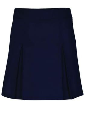 Real School Girls Plus School Uniform Pleat Front Scooter Skirt (Plus)