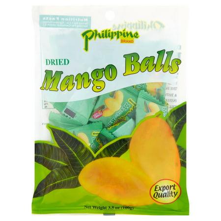 Philippine Brand Dried Mango Balls  3 5 Oz