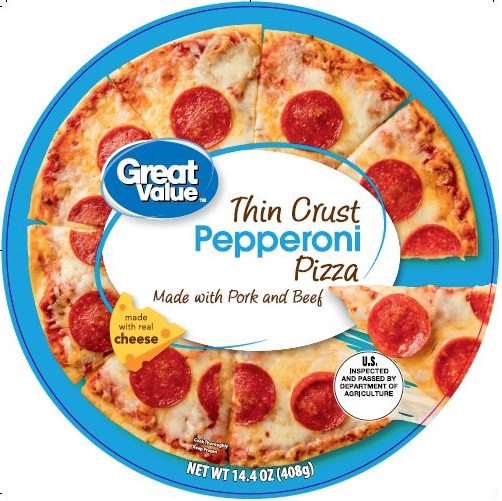 Great Value Thin Crust Pepperoni Pizza, 14.4 oz
