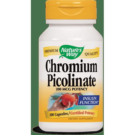 Nature's Way Chromium Picolinate 200 mcg, 100 Ct