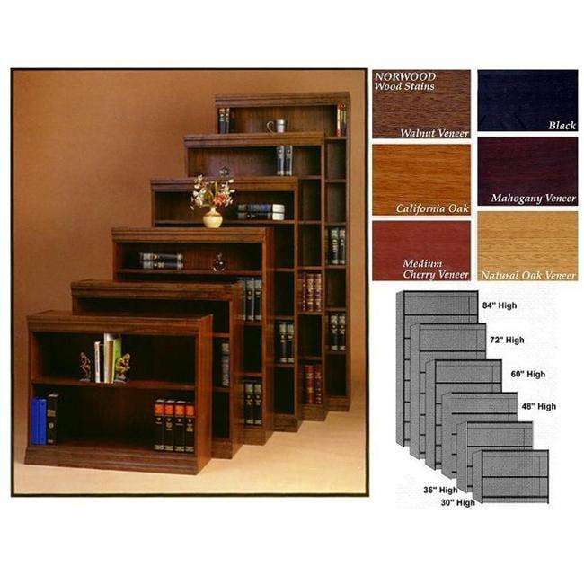 Norsons JEF36 MC 2 Shelf Jefferson Bookcases Novacore - Medium Cherry