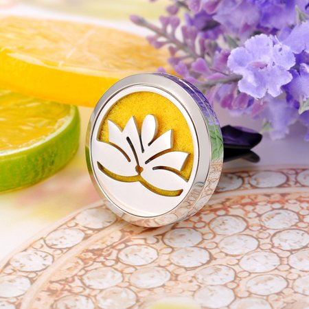 Lotus Flower Perfume Aromatherapy Car Essential Oil Diffuser Car Vent Clip