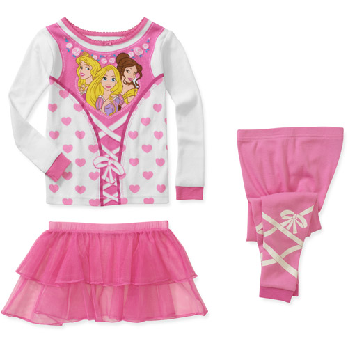 Disney Baby Girls' Princess 3 Piece Ballerina Pajama Set