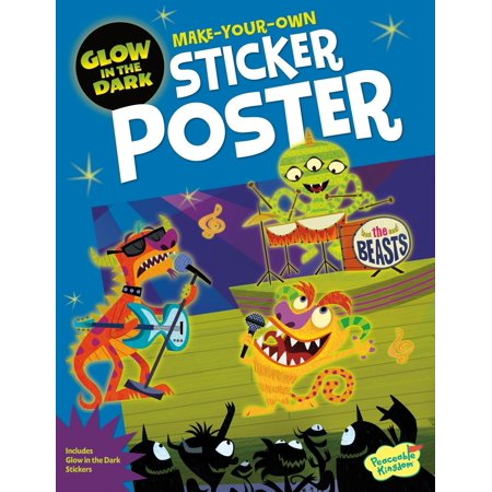 Peaceable Kingdom Monster Rock Show Glow In the Dark Sticker Activity Poster Book](Kingdom Rock Vbs)