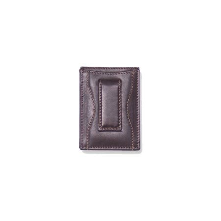 Black Money Clip - Black Leather Money Clip Card Case