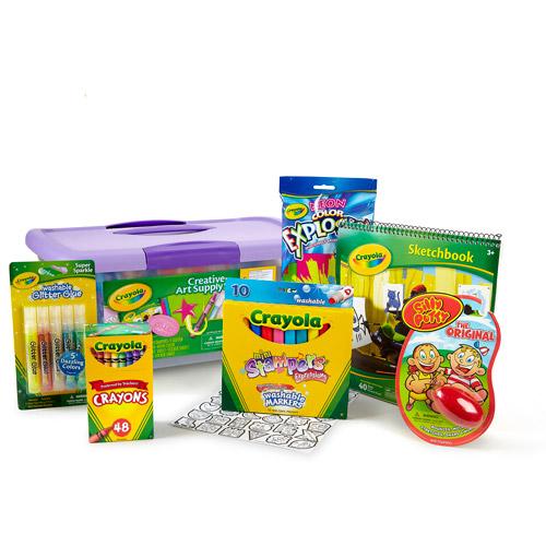 Crayola Creative Art Supply 70 Accessory Set for Girls