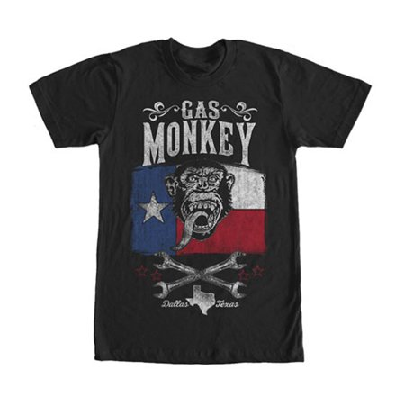 Lone Star Tank - Gas Monkey Men's  Lone Star T-shirt Black