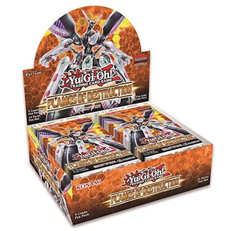 Yu-Gi-Oh Flames Of Destruction 1st Edition Booster Box 24 packs of 9 cards each Destruction Special Edition Pack
