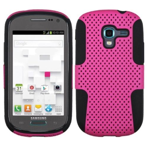 Insten Hot Pink Black Astronoot Phone Protector Case For SAMSUNG T599 Galaxy Exhibit