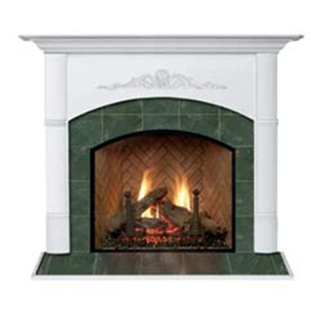 Viceroy A Flush Fireplace Mantel in Medium English Chestnut