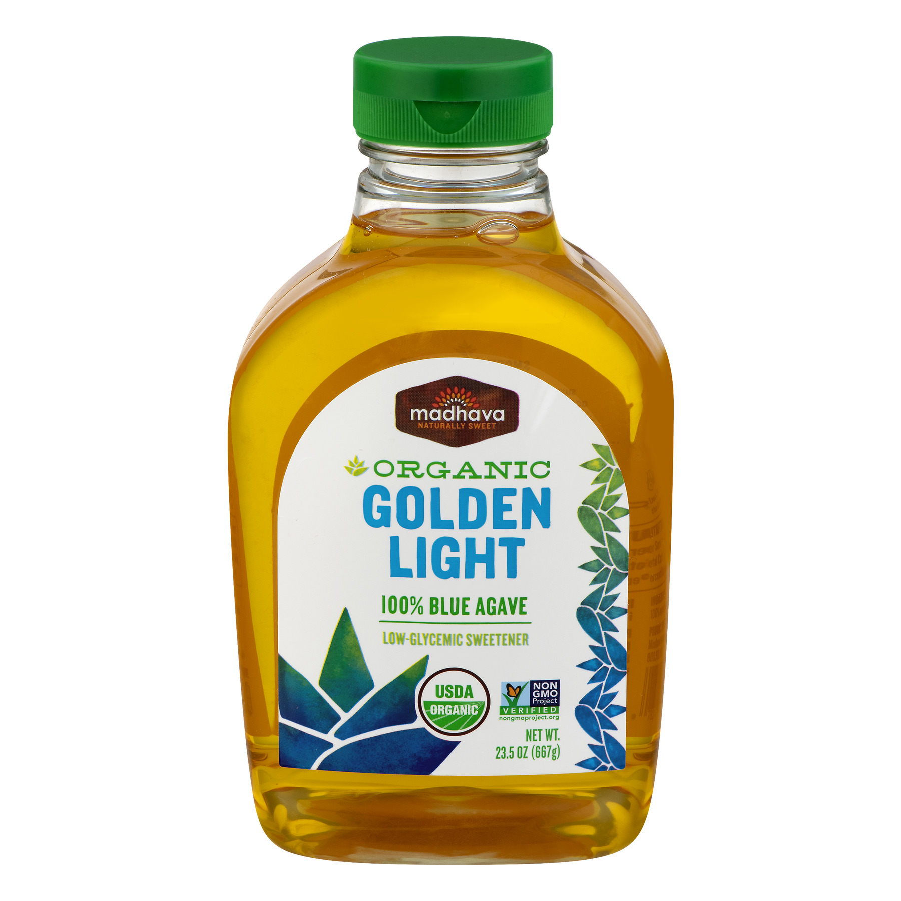 Madhava Organic Golden Light Blue Agave Sweetener, 23.5 OZ