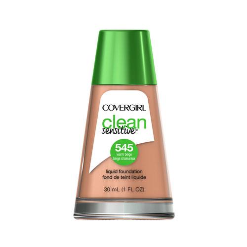 Covergirl Clean Sensitive Liquid Foundation 545 Warm Beige 1oz  30ml