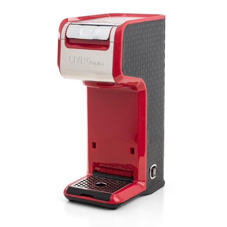 LIVINGbasics 2 in 1 Single Serve Coffee Maker Coffee Brewer, Compatible with K-Cup Pods or Ground Coffee - image 2 de 8