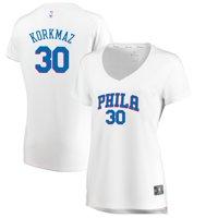 Furkan Korkmaz Philadelphia 76ers Fanatics Branded Women's Fast Break Player Jersey - Association Edition - White