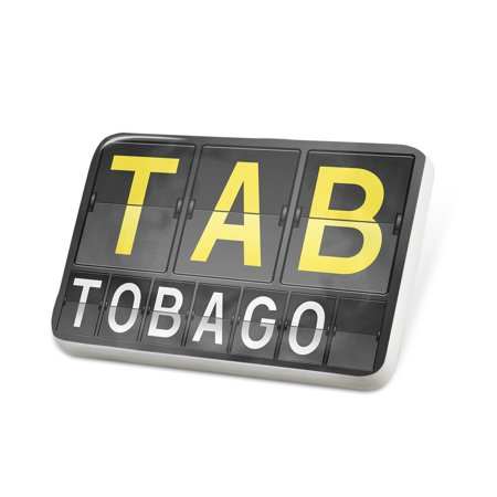 Porcelein Pin TAB Airport Code for Tobago Lapel Badge – NEONBLOND