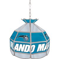 "Trademark Global Orlando Magic NBA 16"" Stained Glass Tiffany Lamp Light Fixture"