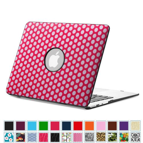 "Fintie MacBook Air 13.3"" Case (A1466 / A1369 ) -PU Leather Coated Hard Cover Snap On Protective Case, Pol-Magenta"