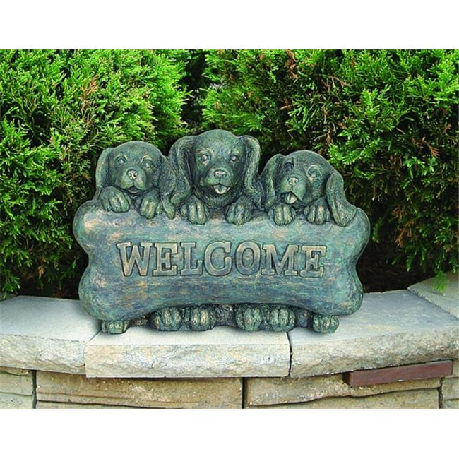 Beckett Welcome Puppies Statuary 16. 5X7. 5X11 In Gray 7222510