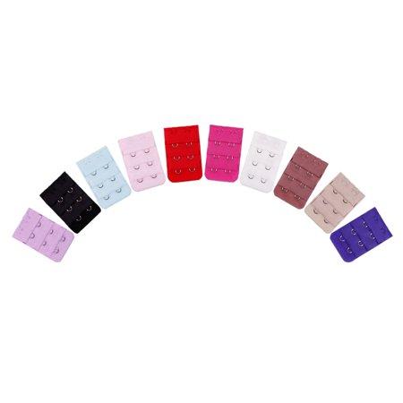 Bundle Monster Women Adjust Polyester Bra Clip Extender Straps Multi Color Set