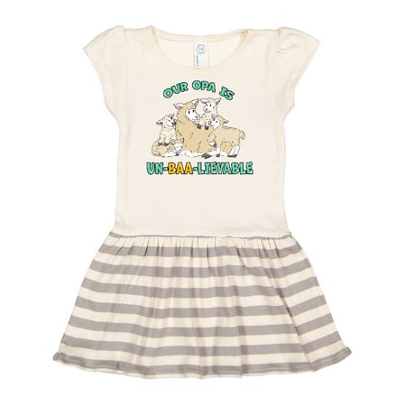 Our Opa Is Un-BAA-lievable with Cute Sheep Family Toddler Dress