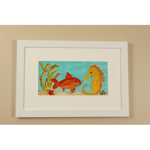 Judith Raye Paintings LLC Beach Under the Sea by Judith Raye Framed Painting Print
