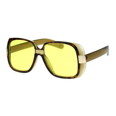 Unique Mobster Iconic Rapper Thick Plastic Retro Sunglasses Tortoise Olive (Retro Rapper)