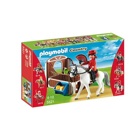 Toy Race Horses (Flamenco Horse with Stall Play Set, Race the Flamenco horse around the track with the help of the jockey in the last of a series of six collectible sets By)