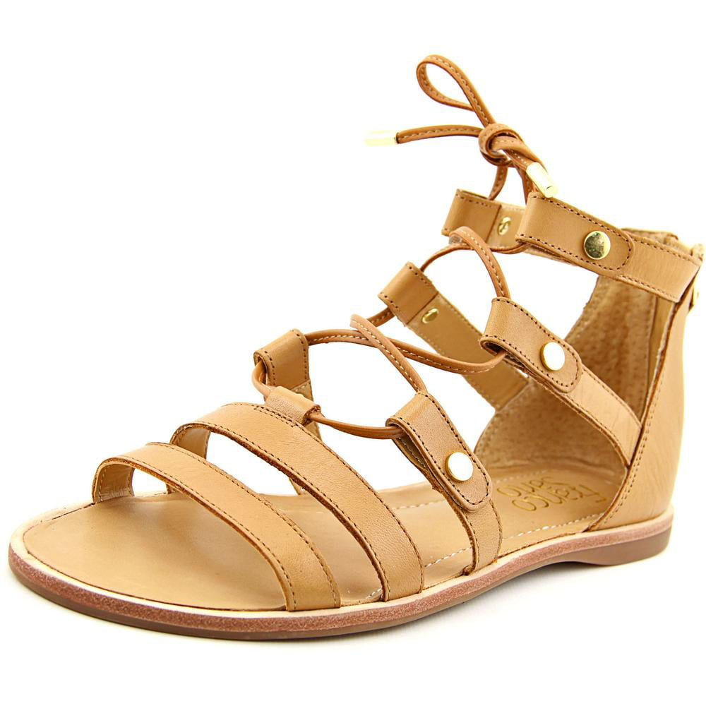 Franco Sarto Baxter Women Open Toe Leather Tan Gladiator Sandal by Franco Sarto
