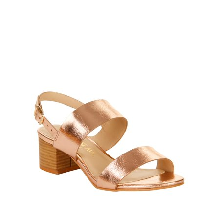 Melrose Ave Women's Next Time Vegan Heeled Sandal - Outside Heel Welt