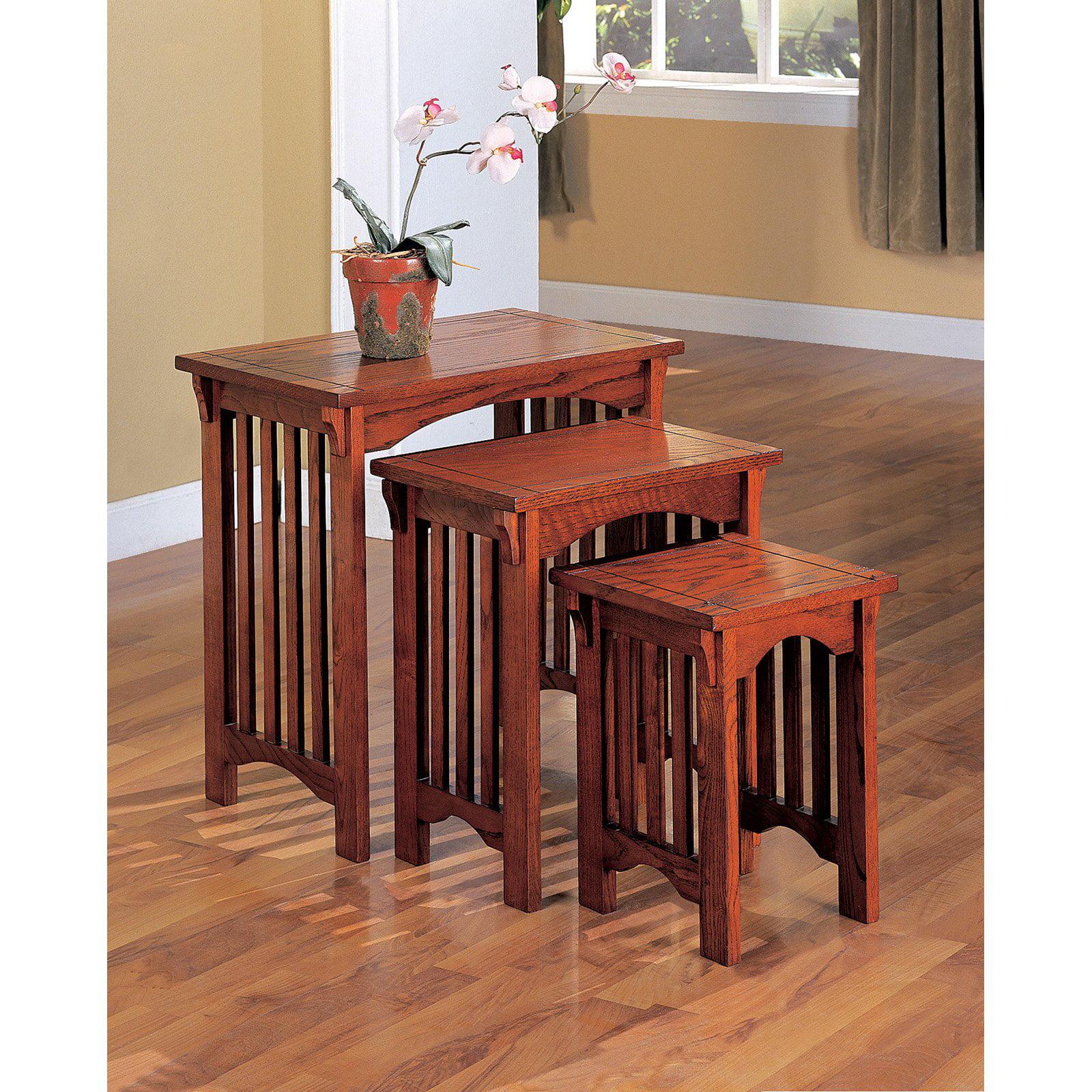 Coaster Company Nesting Table, Warm Brown