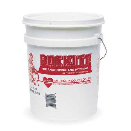ROCKITE Expansion Cement,50 lb.,Pail,Gray 10051