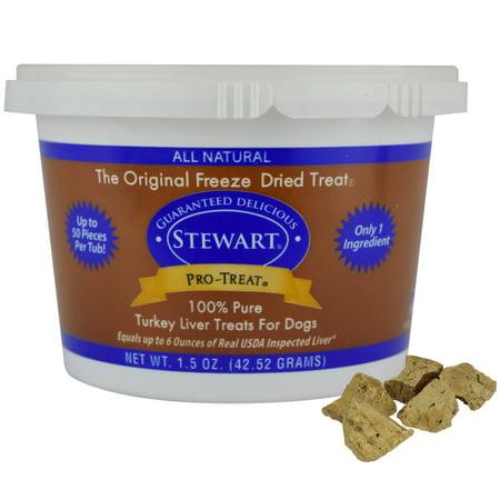 - Stewart Freeze Dried Turkey Liver by Pro-Treat, 1.5 oz. Tub