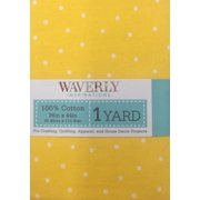 Waverly Inspirations Pre-Cut Small Dot Yellow Fabric, 1 Each