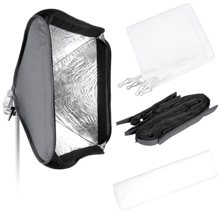 Neewer 24x24 Inches Bowens Mount Softbox With Grid And S Type Flash Bracket For Nikon
