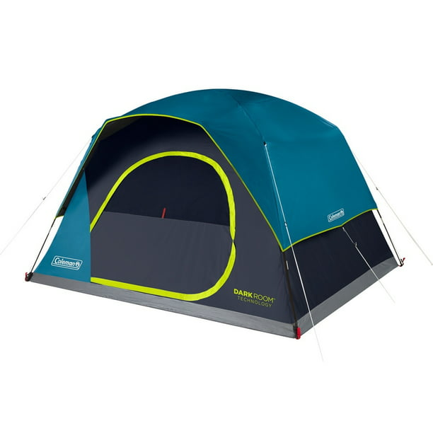 Coleman Camping Tent   6 Person Dark Room Skydome Tent ...