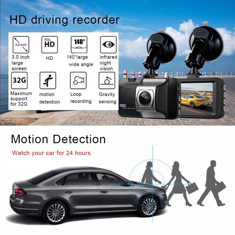 1080P HD Car Camera Driving Recorder Wide Angle Dashboard DVR Dash ABS Plastic