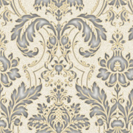 Norwall Concerto JC20083 Damask Wallpaper Beige Metallic Silver Gold